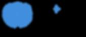 [Horiz, with SL] Blue emblem, black text