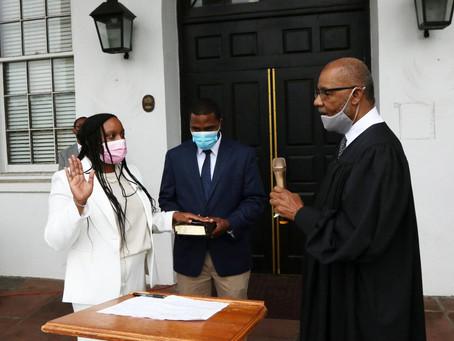 County's first female Coroner sworn in - SC