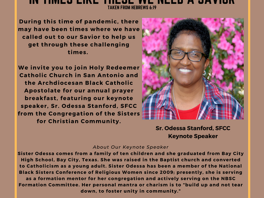 Join us for our 2021 Prayer Breakfast