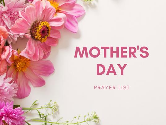 Mother's Day Prayer Enrollment
