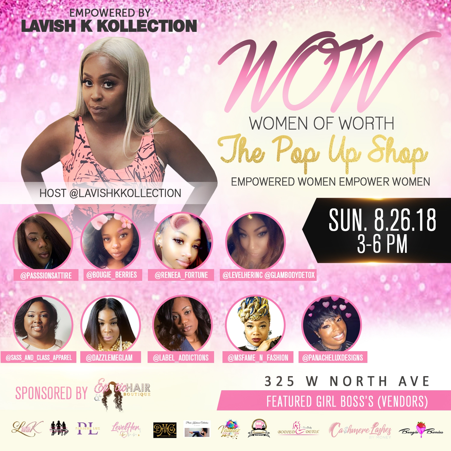 Networking Pop Up Shop Flyer