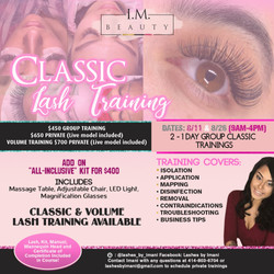 Lash Training Class Flyer