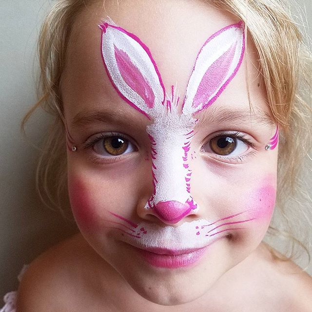Cute bunny #bunnyfacepainting #nanycaritas