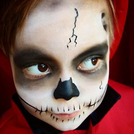 Boo #Nanycaritas #skullfacepainting #kid