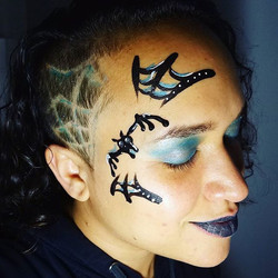 Spiders spiders and spiderwebs!_I made my own bat buddy!_Thanks George for the haircut! #headrush gr