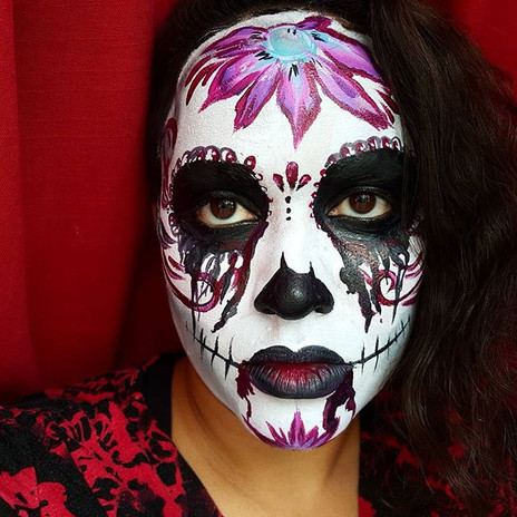 Cross between sugar skull and zombie?  #