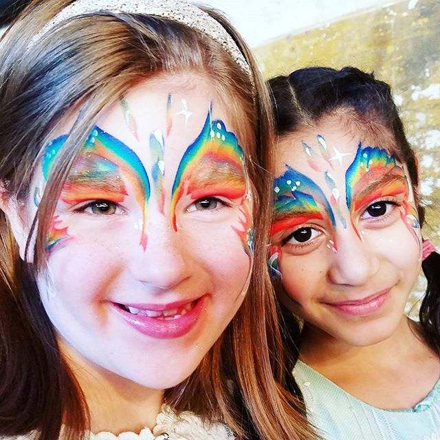 Butterflies Besties!_This is my extra quick rainbow butterfly I do for festivals__#nanycaritas #broo