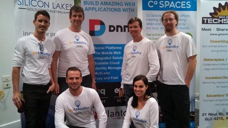 gostandby team photo, startup weekend