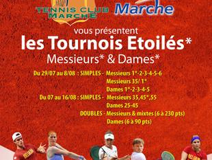 Tournoi d'été du TC Marche du 29/07 au 15/08 : bienvenue à toutes et tous!