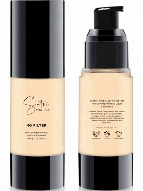 No Filter Full Coverage Mineral Liquid Foundation - Satori Minerals