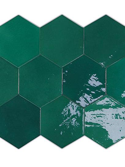 Zellige Hexa Emerald Burlington Design Gallery Irving