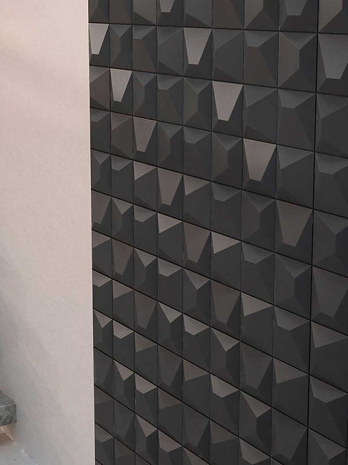 Black 3D Wall Porcelain Tile Bar Dallas Artistic Tile