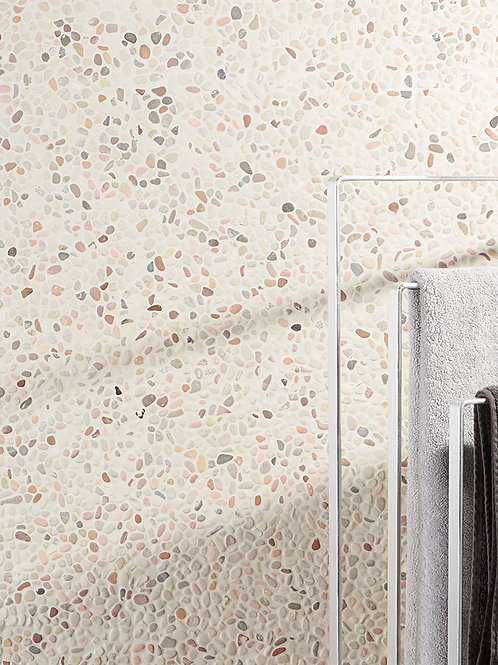 Micro Mosaic Pebble Light Sand Look Artistic Tile Dallas