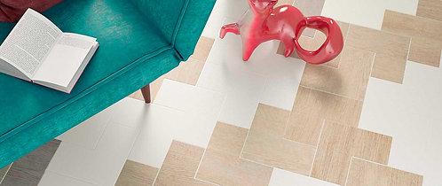 Minimalistic White Wood Look L Retro Porcelain Tile Dallas Ann Sacks
