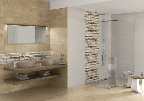 Neutral Tone Wall Tile, Horizon Tile, Horizontal Line Tile Dallas