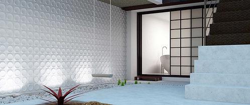 Porcelain Moon Circle 3D Tile Bar Artistic Tile Dallas