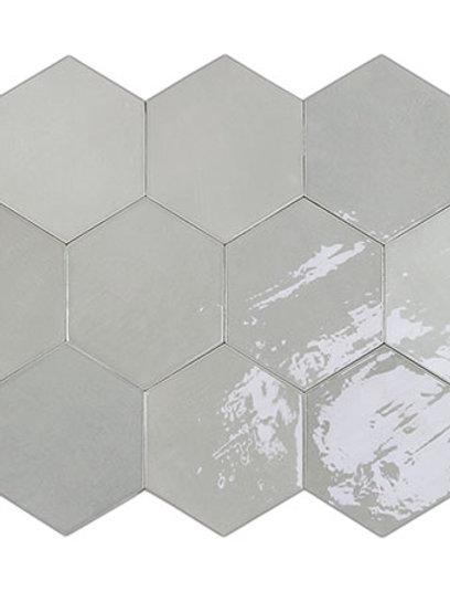 Zellige Hexa Grey Burlington Design Gallery Irving
