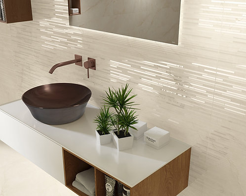 Glitter Effect Cream/ Nude Wall Tile Elegant Minimalistic Dallas