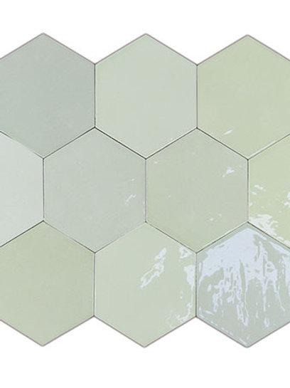 Zellige Hexa Mint Burlington Design Gallery Irving