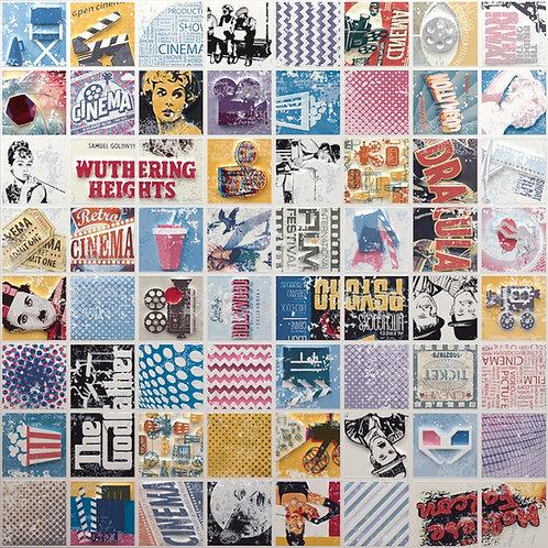 POPCORN Collage Mosaic Ceramic Tile Artistic Tile, Burlington Design Gallery