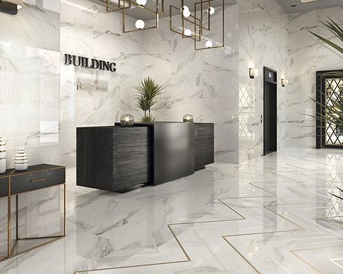 White Marble Stone Collection Aria Calacatta Stone