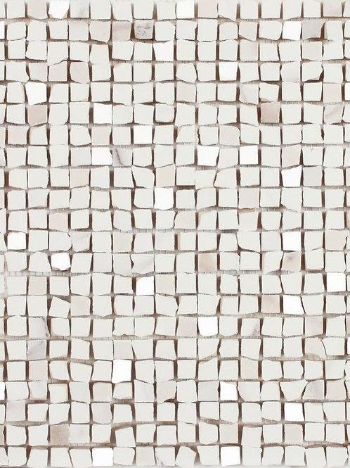 Mosaico Lux White Ceramic Mosaic Irving