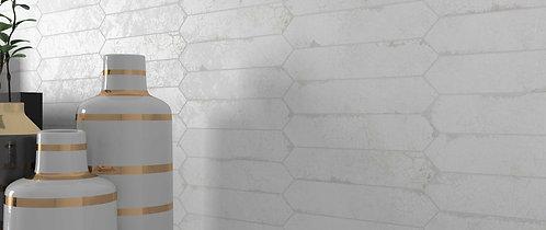 White Crayon Antique Look Wall Tile Bar Dallas