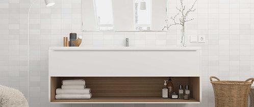 White ceramic wall tile Matte Ann Sacks Minimalistic