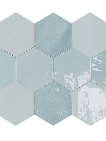 Zellige Hexa Aqua Burlington Design Gallery Irving