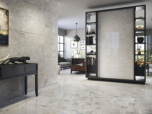 Elegant Mosaic tile Grey Perlanova Artistic Tile Irving, TX