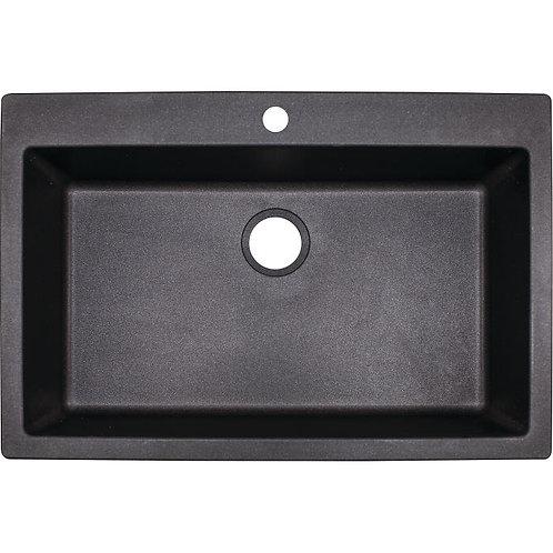 """FRANKE DIG 1091 Primo 33"""" Single Basin Granite Graphite Sink"""