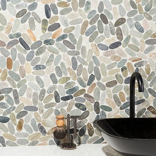 Grey Multi Color Natural stone boutique Dallas Wall Shower