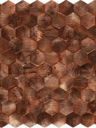 Corten Cooper Mosaic- Hexagon