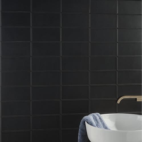 Stac Garcia Maddox Frame Black Ceramic Wall Tile Irving Burlington Design Gallery