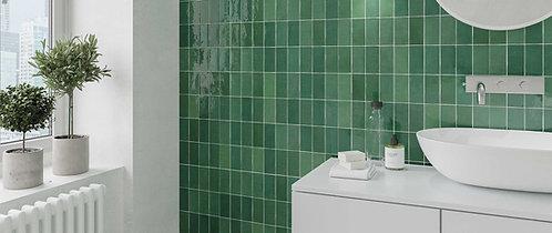 Green Emerald Gloss Ceramic Wall Tile Renaissance Tile Dallas