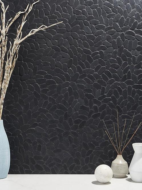 Earthstone Oval Pebble Alor Black Mosaic Burlington Design Gallery