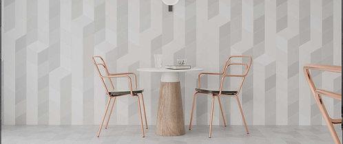 Flow Diamond Decor Grey Porcelain Tile Dallas Design District Irving TX
