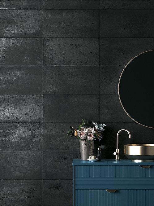 Black Venom Porcelain Tile Da Vinci Marble and Tile Bar Dallas