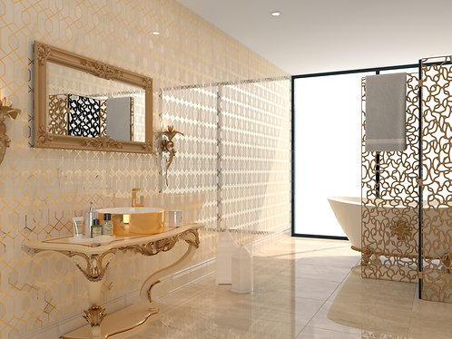 Great Gatsby Fancy Wall Tile, 20's inspired Exquisite Surfaces
