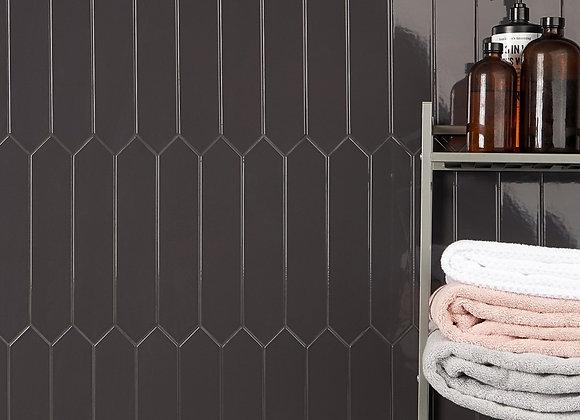 Otis Antracite 2.6 x 13 Polished Ceramic Tile