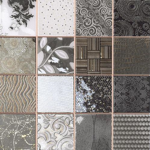 Tiffany Black White and Dark Tiles Collage Dallas