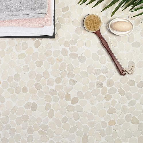 Sand Color Natural Stone Pebble Mosaic Aria Stone