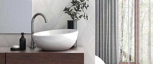 Flow Diamond Decor White Porcelain Tile Ann Sacks Dallas Irving TX Design Dallas