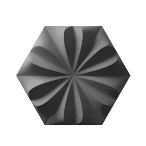 Fiore Graphite Grey Burlington 3D Ceramic Wall Tile