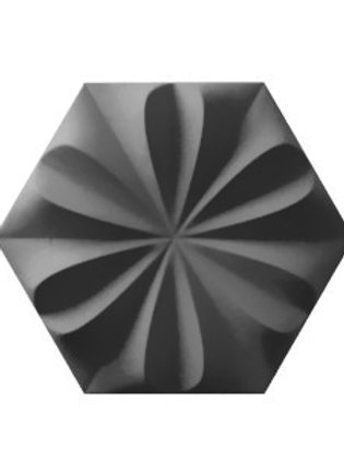 Fiore Graphite Grey Burlington 3D Ceramic Wall Tile