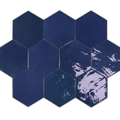 Zellige Hexa Cobalt Burlington Design Gallery Irving