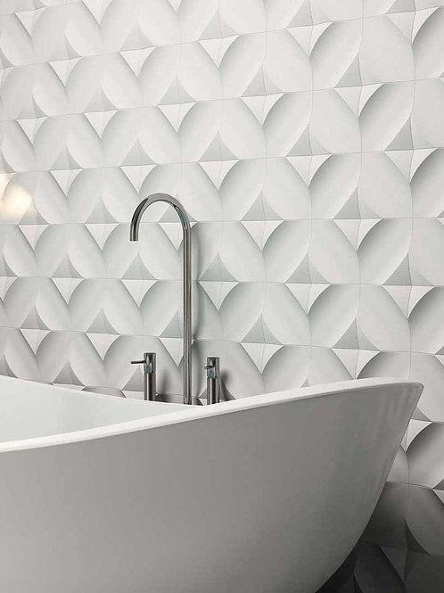 3D TILE CURVED BLACK GREY TILE BAR DALLAS
