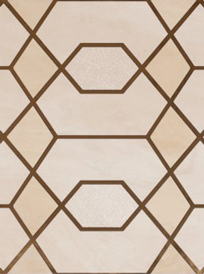 Gatsby Gold Nude Tile Abstract