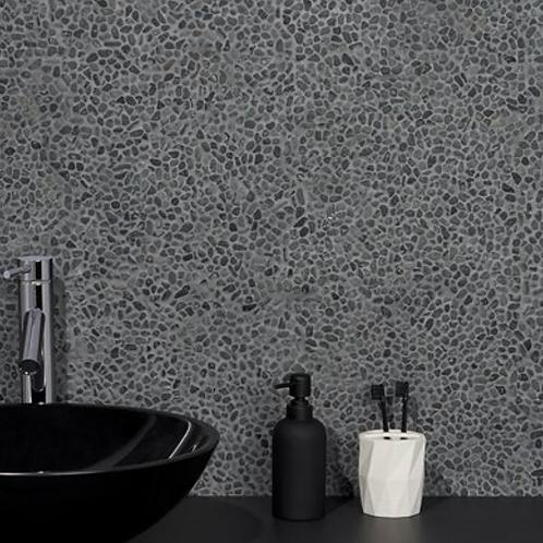 Earthstone Pebble Black Lava Micro Mosaic Burlington Design Gallery