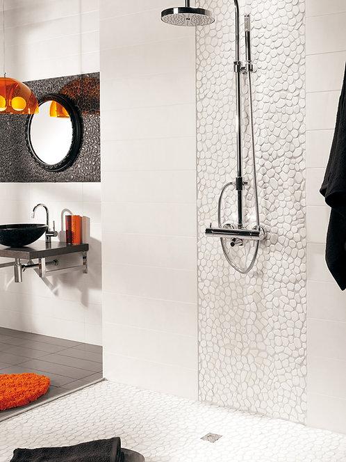 Shower wall, Carrara Rio, Stone Tile Bar Austin